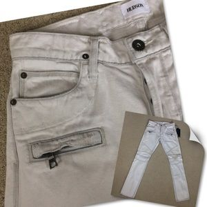 Hudson Men's Blinder Skinny Biker Jeans Moto Zip